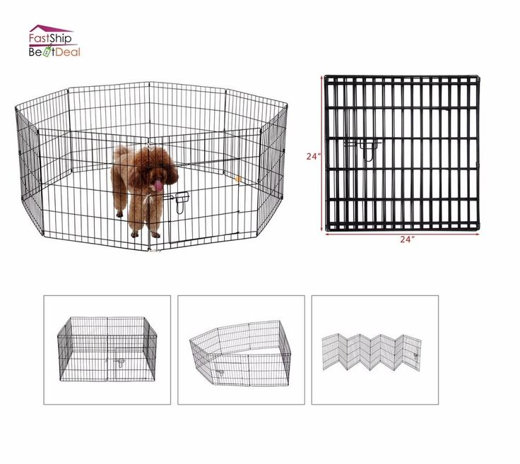 Pet Playpen Indoor Outdoor 8 Panel Folding Dog Crate Kennel Fence Exercise Play #Ollieroo