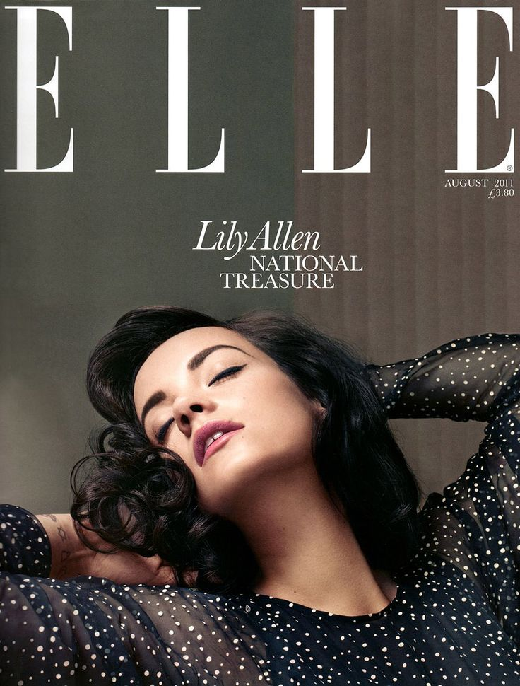 Lily Allen For Elle August 2011