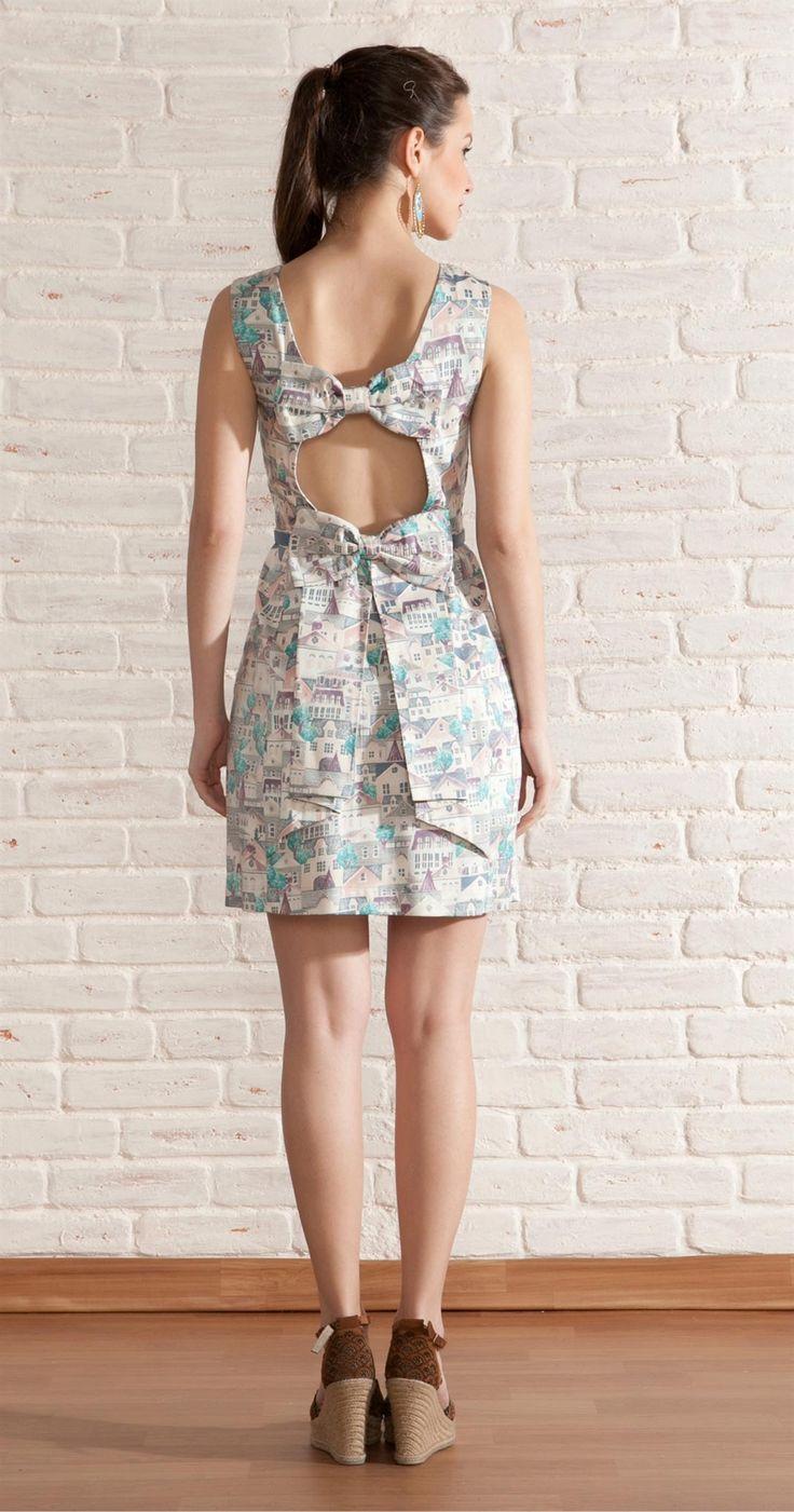 Vestido Casinhas Laços nas Costas   Vestuário   Antix Store