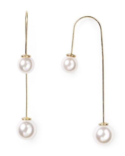 Aqua Olivia Threader Earrings, $25; bloomingdales.com
