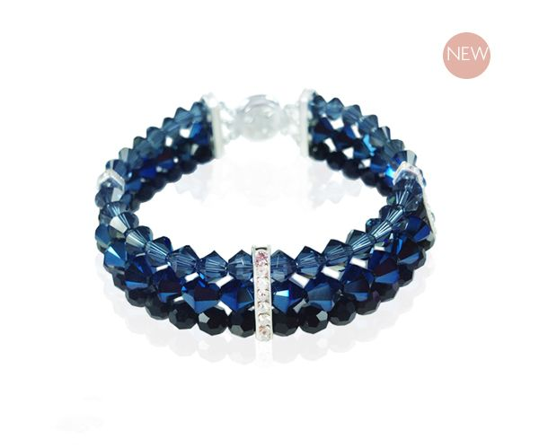 Vanessa Blue Bracelet - Swarovski Elements and made in NZ, instores now!!