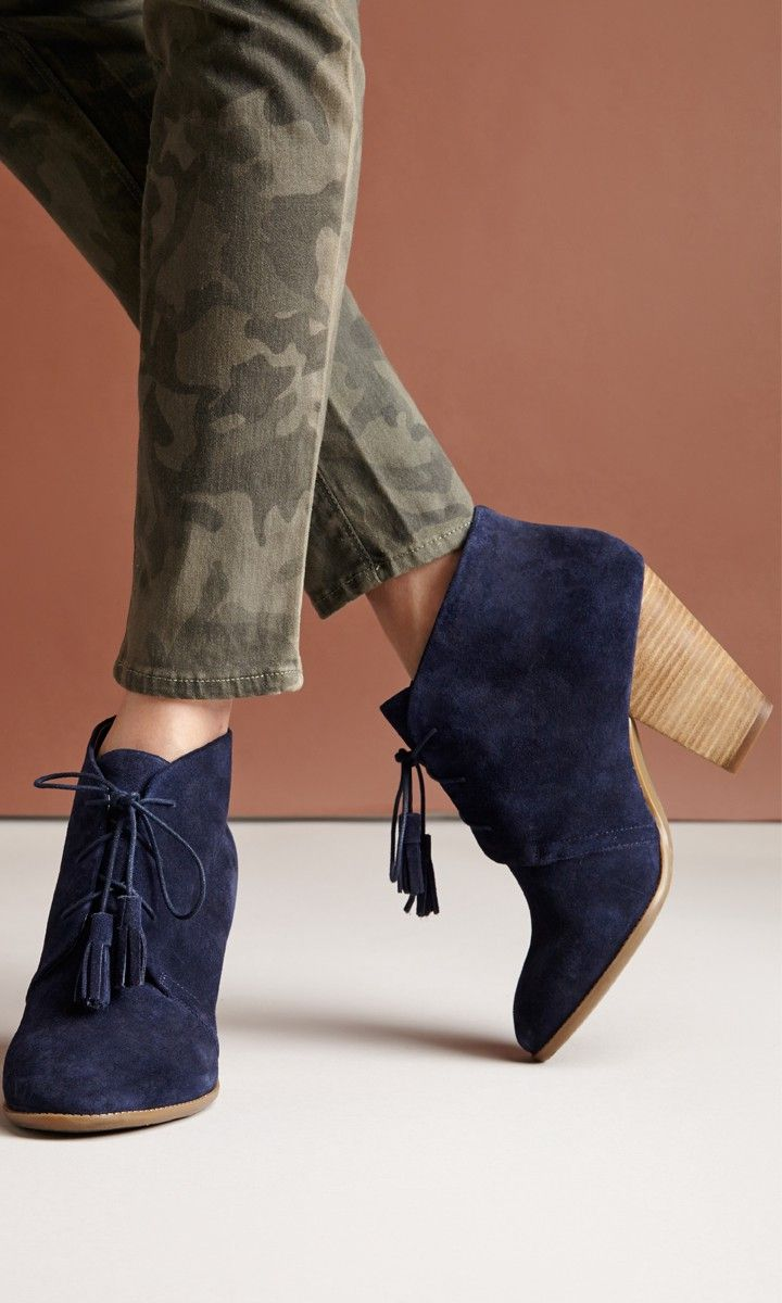 Soft suede lace up booties//