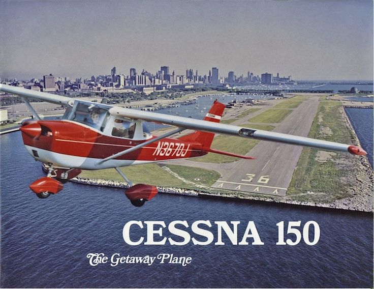 Cessna 150 launching from Meigs Field.