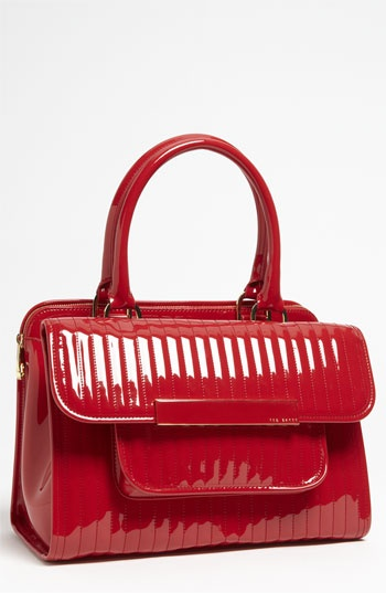 Love a structured red bag! The structure says you in control and red says you are out of control! Keeps them guessing :) Ted Baker London 'Mardun' Satchel available at #Nordstrom