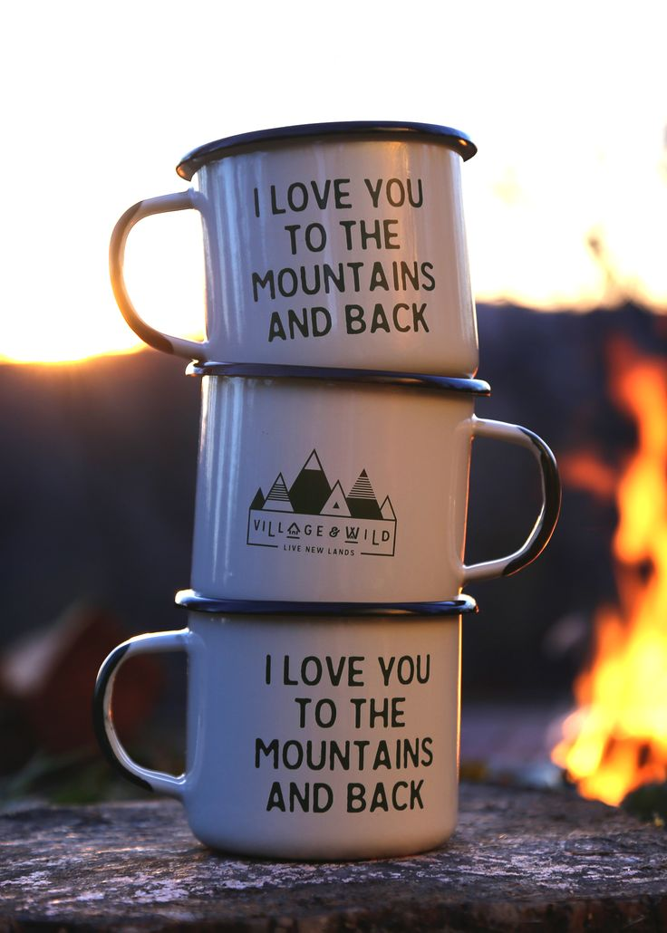 Outdoorsy gift for the nature lover on your holiday list! I love you to the mountains and back camp mug.