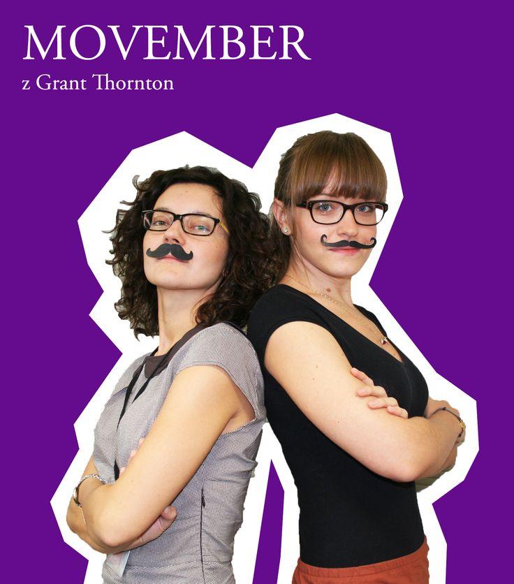 """Movember z Grant Thornton   Celem Movember (""""moustache"""" + """"November"""") jest zmienienie postrzegania przez mężczyzn kwestii dbania o własne zdrowie oraz zaangażowanie ich w programy profilaktyczne   #charity #movember"""