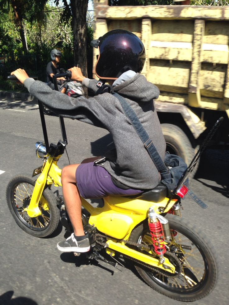 "Funny Harley in Bali!! You should drive ""Sepeda motor "" if you travel around Bali! So much fun!"