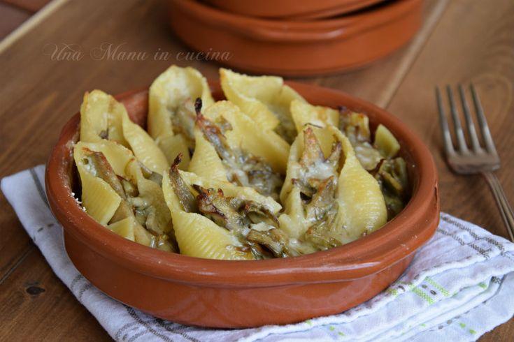 Conchiglioni carciofi e gorgonzola
