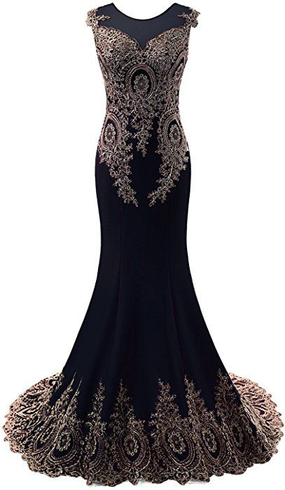 7ac75cb8dfe Amazon.com  Sarahbridal Women s Embroidery Lace Prom Dresses Mermaid Formal  Evening Gowns Long Navy BLE US16  Clothing