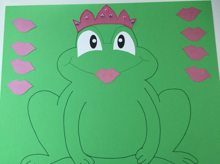 Kiss the frog game I made for Yasmina's princess party