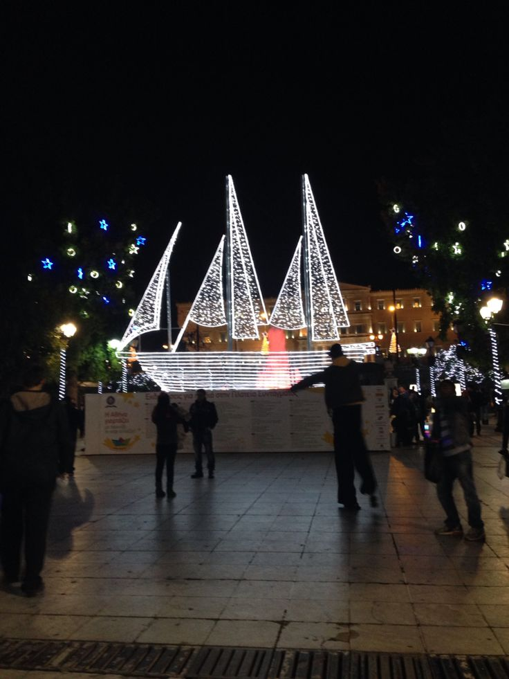Christmas in athens city ship downtown
