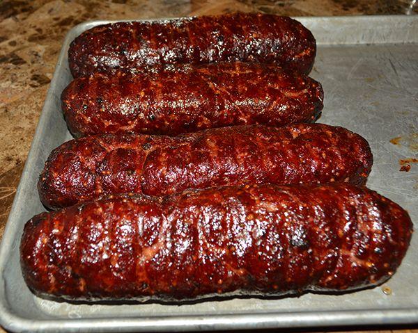 Spicy Summer Sausage Done