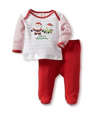 33% OFF Absorba Baby Two Piece Footed Pant Set (Dot Print)