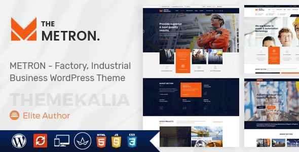 Metron Industry Factory Business Wordpress Theme Free