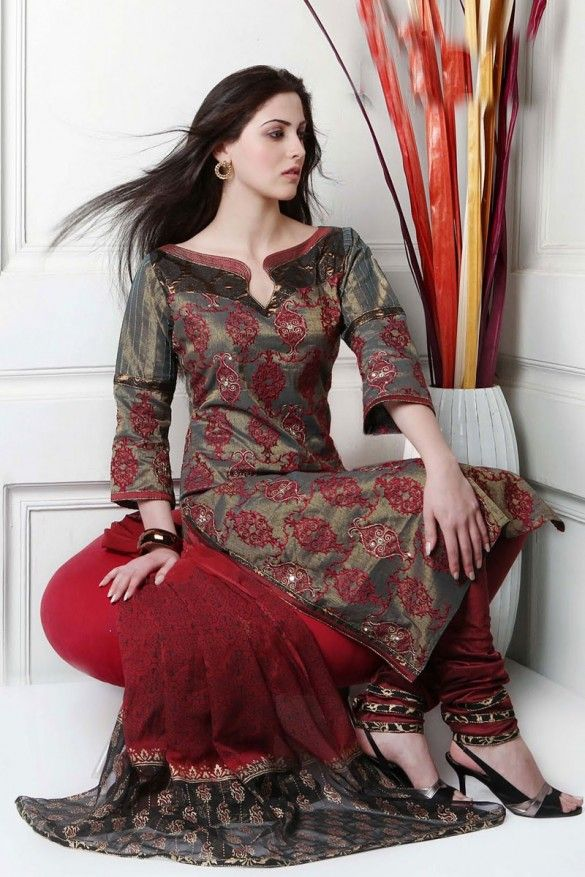 Salwar Kameez Neck Designs 2014