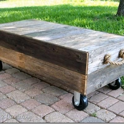 Cart Coffee Table Inspired By Restoration Hardware For