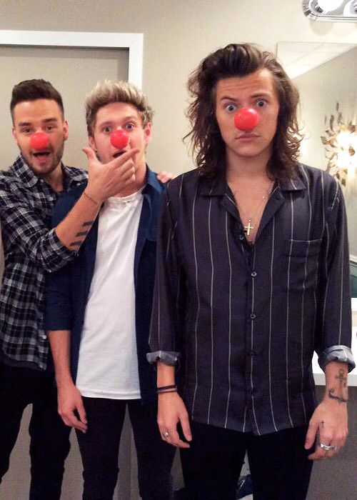 Harry Styles, Liam and Niall for Red Nose Day 2015