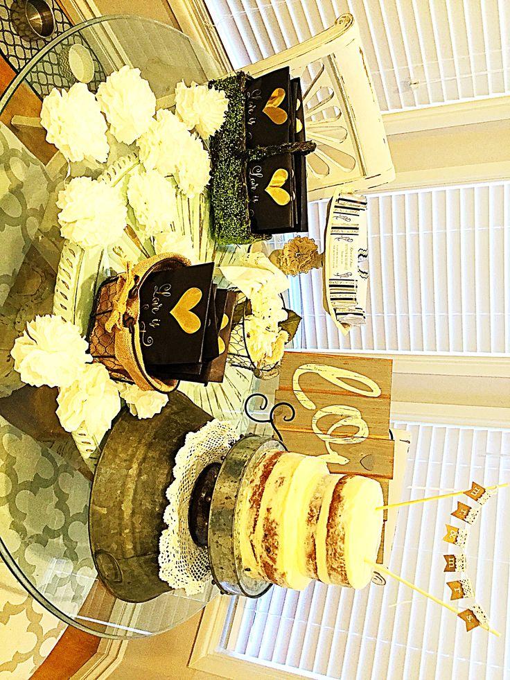 Naked cake for wedding rehearsal dinner