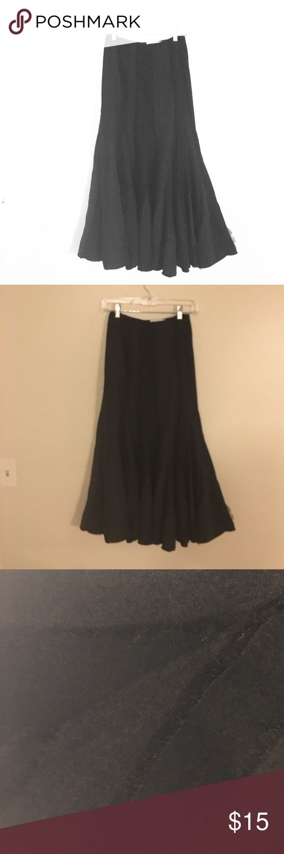 Lena Gabrielle Black Trumpet w Tweed Skirt 12 NICE Lena Gabrielle Black Tweed Trumpet Skirt. Size 12. Excellent condition - no stains, tears or rips. Hits around the ankle. Looks great w boots !! Priced at a killer deal ! Skirts A-Line or Full