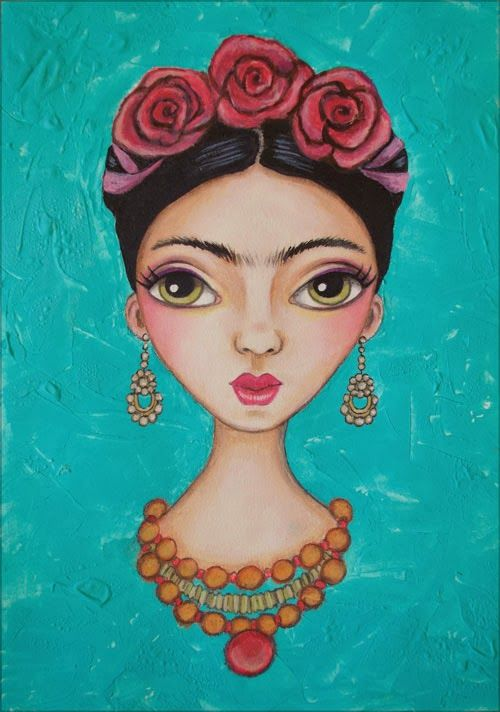 Frida with Roses by Serena Bridgeman