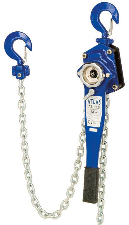 ATLAS standard hubzug, 1.5 ton zincirli çektirme, 1,5 mt zincire sahiptir.  ATH 1.5 #hubzug #lifting #leverblock #atlas #mekanik #manuel #chain   http://www.ozkardeslermakina.com/urun/hubzug-zincirli-cektirme-atlas-ath-1500-kg/