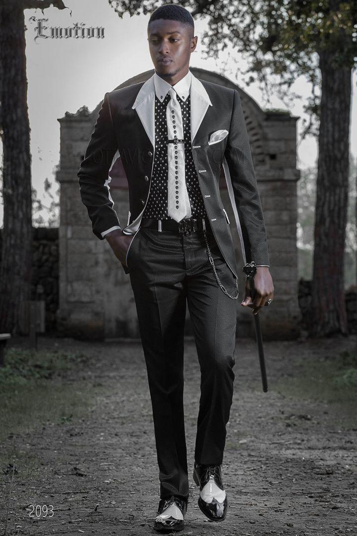 Abito da sposo moderno grigio per uomo hipster Completo ONGala d1c709d57aa
