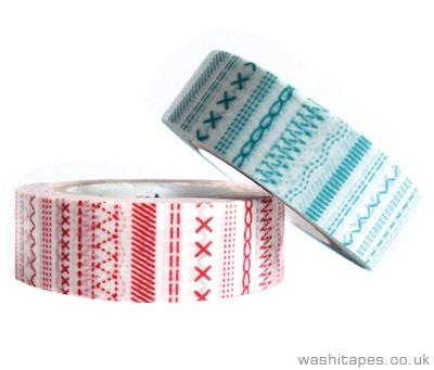 Washi tape featuring sewing machine stitches - cute!