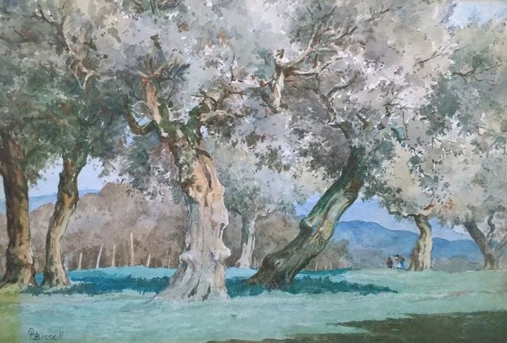 Olives San Severo, Italy (O.H. Bissell, 1906-1968) - 1944 Watercolour