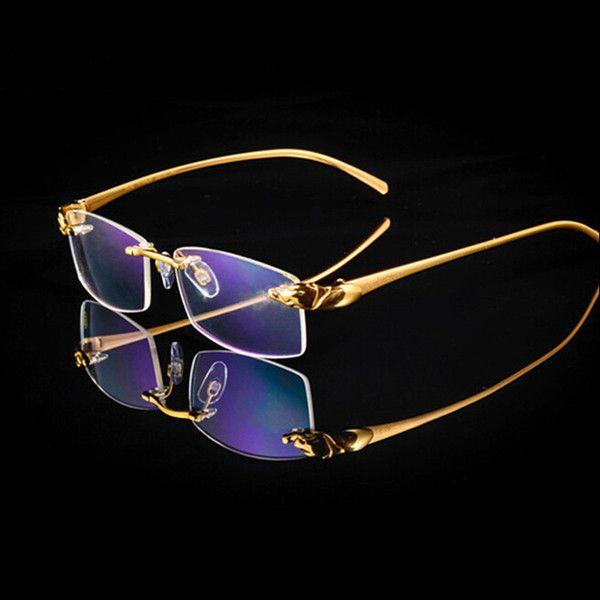 9873ef69e6a Wooden Feet Mens Rimless Eyeglass Frames High End Business Optical Frame  Men Eyeglasses Gold Silver Color China Eye Glasses Eyewear Designer Glass  Frames ...