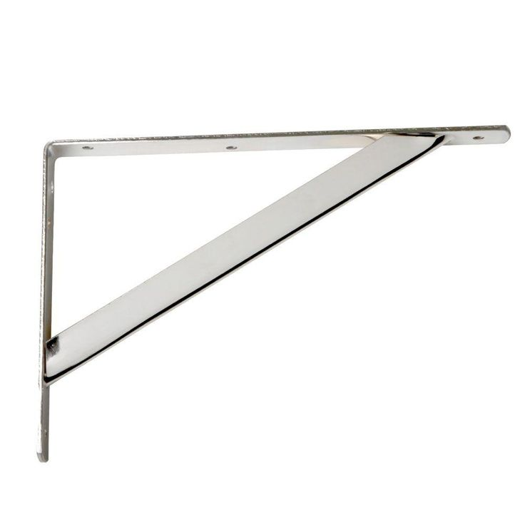 Closet Max 11.25 in. x 1.05 in. Chrome Shelf Bracket-HD-0494-CH at The Home Depot