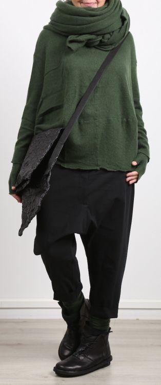 rundholz - Pullover mit Stehkragen und Falte im Rücken Cashmere erbsengrün - Winter 2018