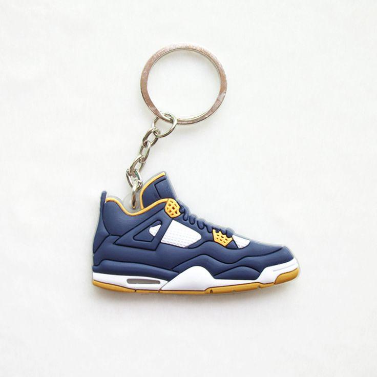 Mini Jordan 4 Keychain For Men Woman Silicone Sneaker Key Chain Key Ring Key Holder Gifts Keychain