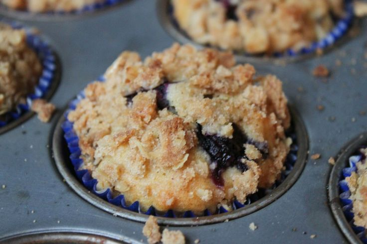 Crumble topped Blueberry Oat Muffins | breads, muffins, and rolls, et ...