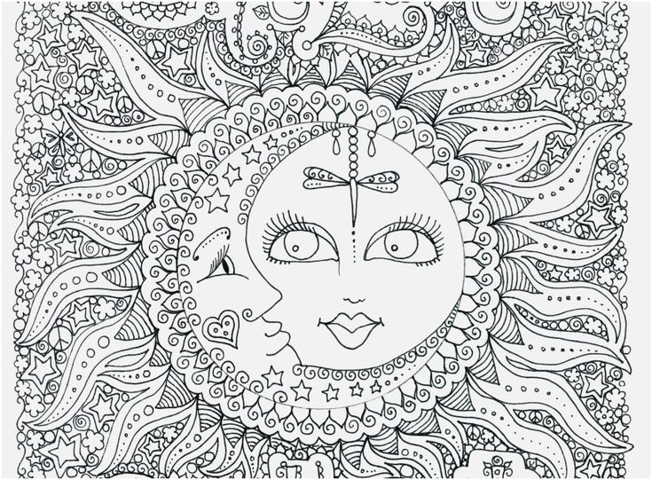 Mermaid Coloring Pages | Fantasy Jr. |Moon Mermaid Coloring Pages