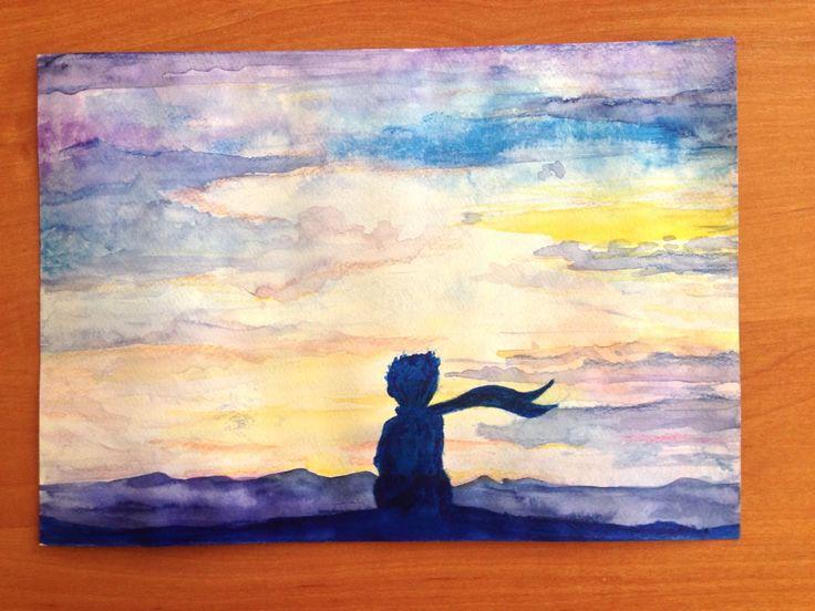 Le petit prince illustration watercolor.