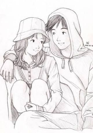 cute couples sketch - Google Search