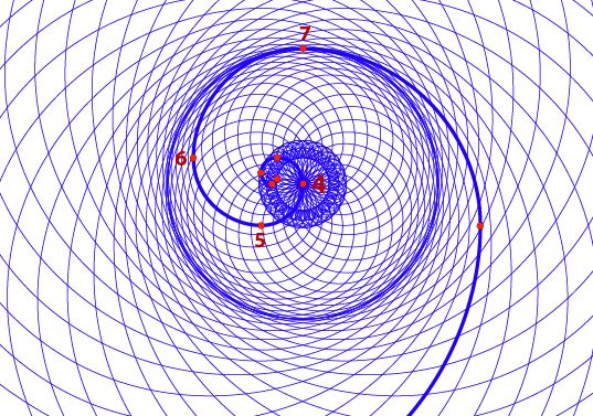 Phi Double Spiral. By duplicating the vortex, flipping it ...