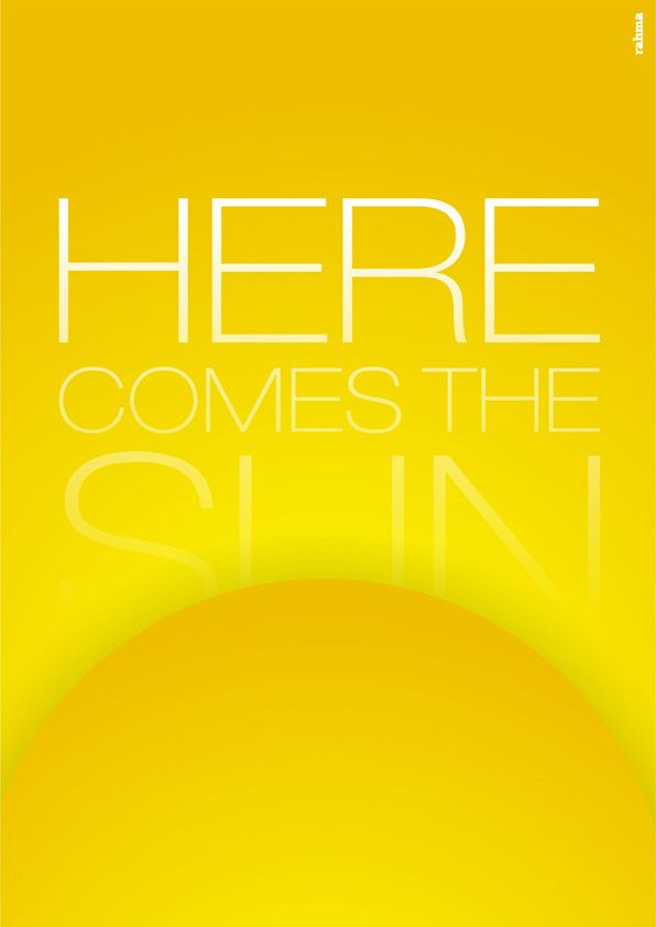 Here Comes the Sun | Illustration for the Beatles's song Her… | Flickr