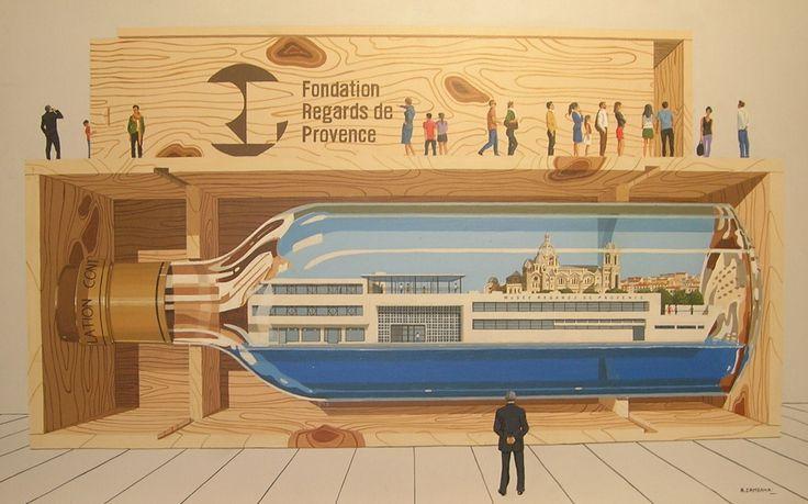 Affiche et tableau pour la fondation Regards de Provence