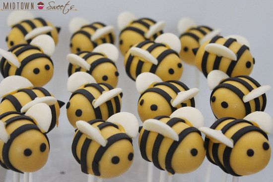 Bumble Bee Cake Pops :)