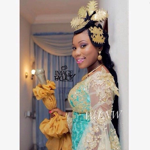 Beautiful Efik Bride From Cross Rivers Nigeria And Her Golden Crown Follow ChiefWedsLolo