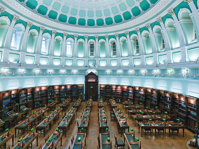 The National Library of Ireland is Ireland's national library located in Dublin, in a building designed by Thomas Newenham Deane. The Minister for Arts, Heritage and the Gaeltacht is the member of the Irish Government responsible for the library.