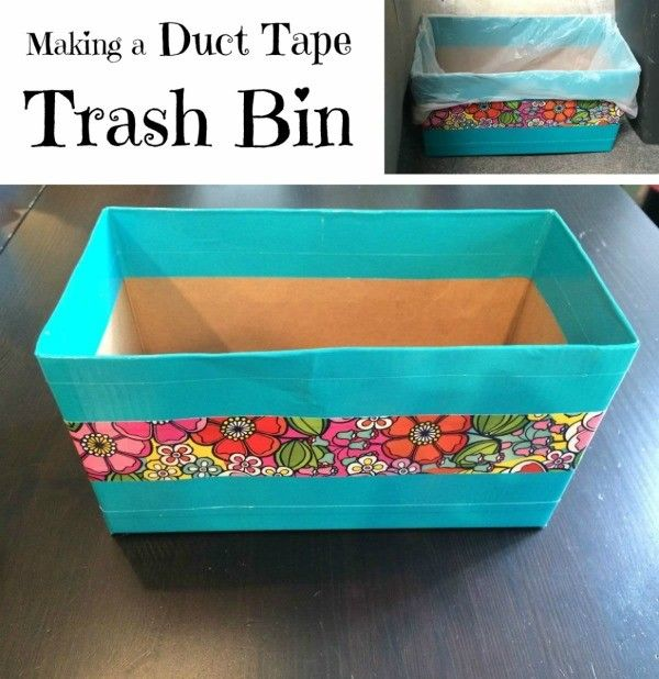 This is a guide about making a duct tape trash bin. With its popularity for use in crafting, duct tape now is available in lots of fun colors and patterns. Use some to make a pretty trash bin.