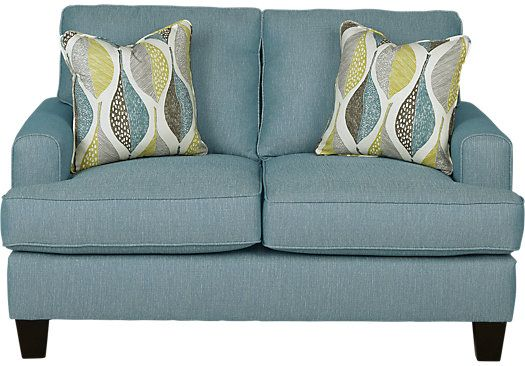 picture of Cypress Gardens Blue Loveseat from Loveseats Furniture