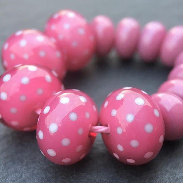 Pink Lampwork Bead