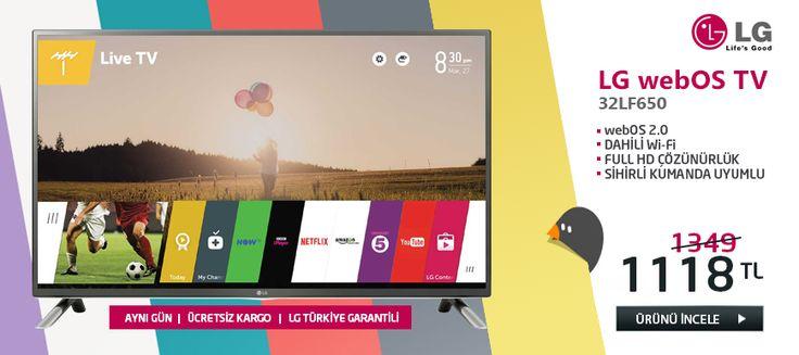 LG 32LF650V 82 Ekran, 3D, Full HD, Uydu, WebOS Smart LED TV + Askı Aparatı Hediye (LG Türkiye Garantili) (Digiturk Play 3 Aylık Üyelik Hediye) (Ücretsiz Kargo) #bizdeuygun #online #alisveris #eticaret #marketing #Televizyon #tv #LG #WebOS #Uygun #alışveriş http://www.bizdeuygun.com/LG-32LF650V-led-tv
