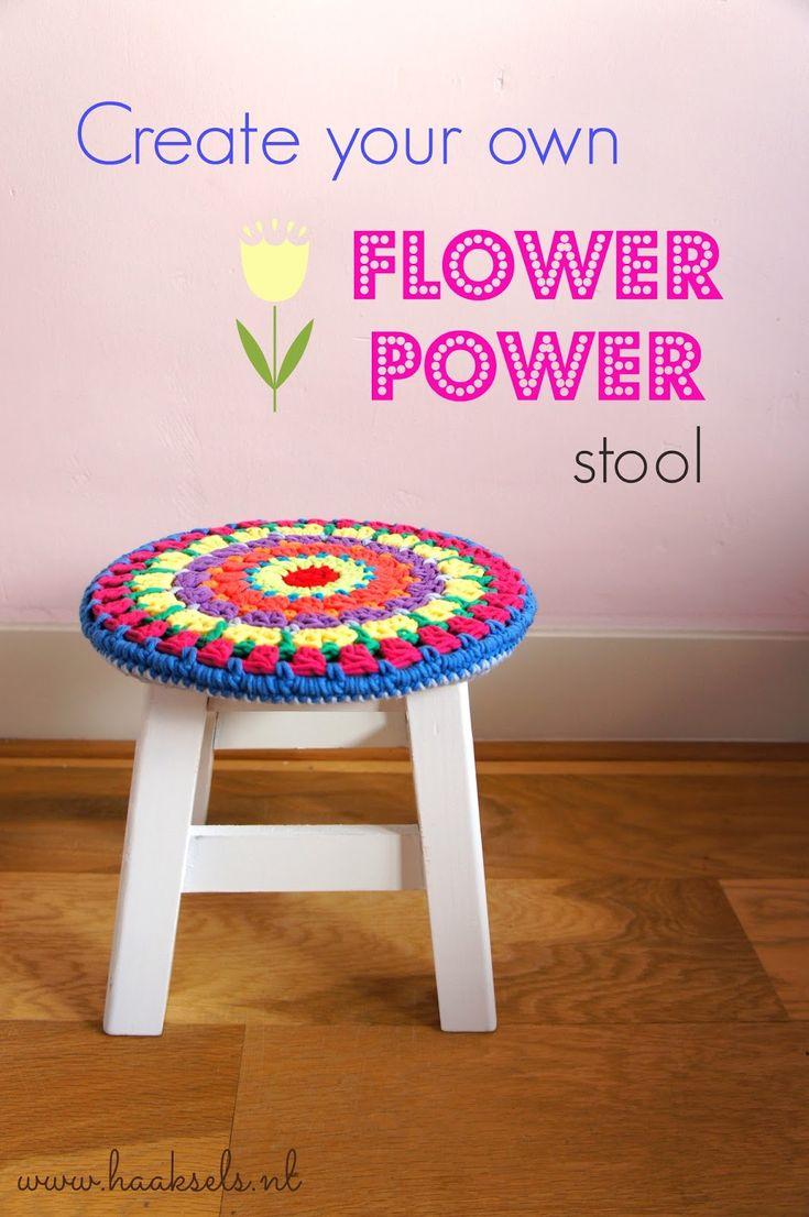 Flower Power Stoolcover