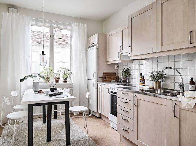 Cozinha elegante e romântica