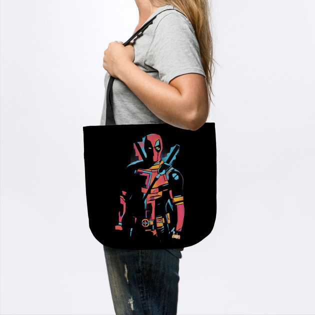 Deadpool tote bag by Fimbis _________________  Wade Wilson, merc with a mouth, superheroes, comics, portrait, x force,