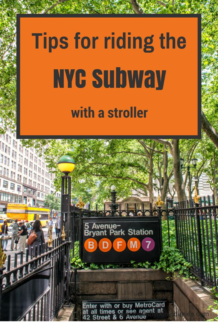 Tips for Riding the NYC Subway with a stroller